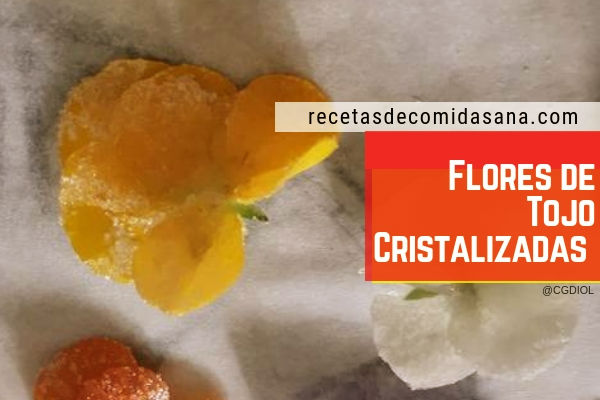 Flores cristalizadas de tojo, Ulex europaeus, en recetas de comida sana