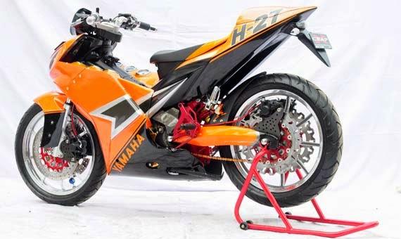 Foto gambar modifikasi motor yamaha jupiter mx new velg jari jari