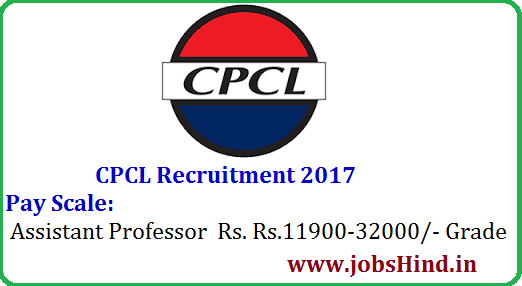 CPCL Recruitment 2017