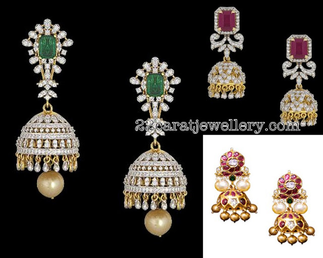 Diamond Jhumkas by Vitaldas Zaveri