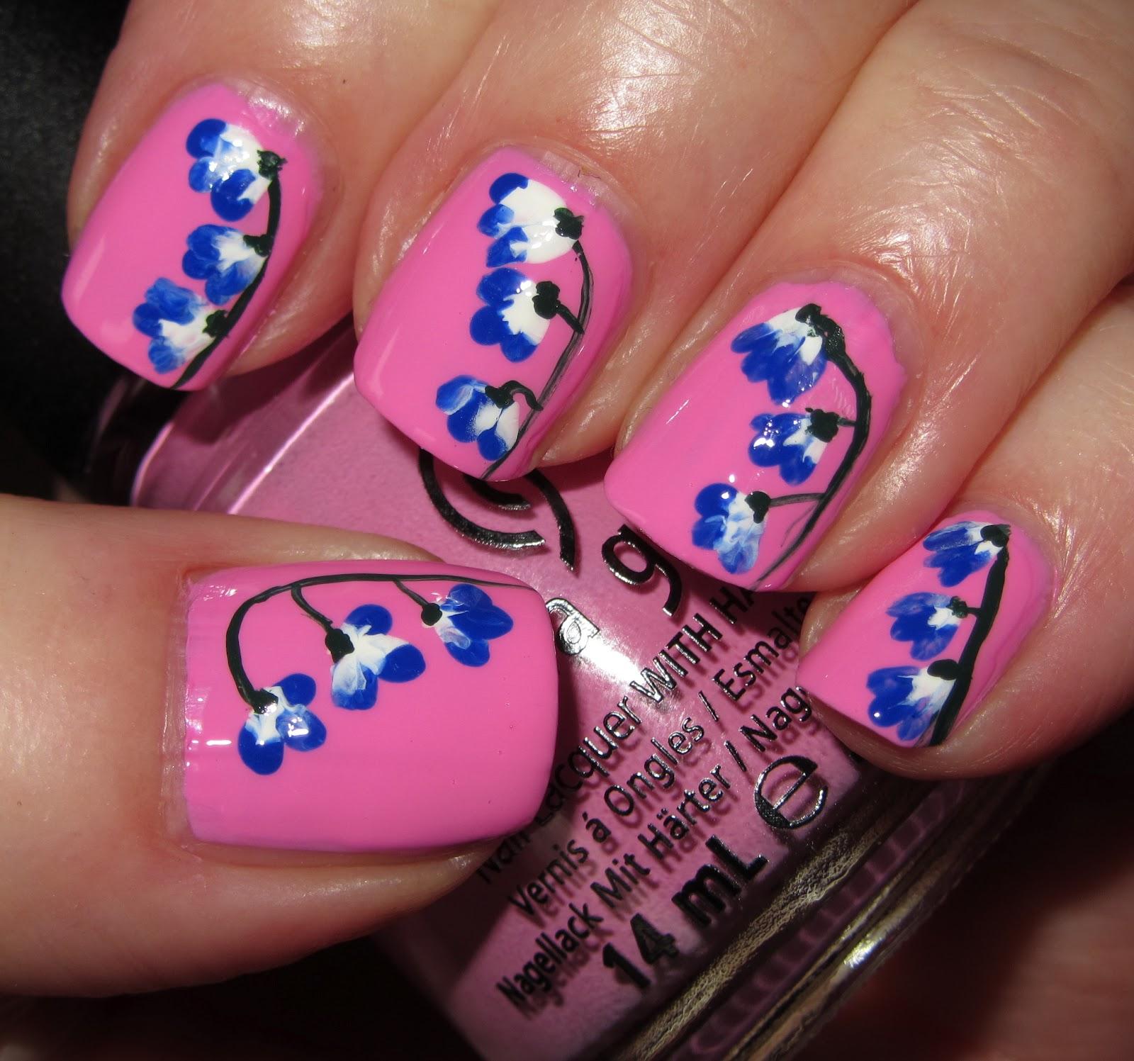 Bubble Gum Nail Art: Marias Nail Art And Polish Blog: Pink Warning: Hanging