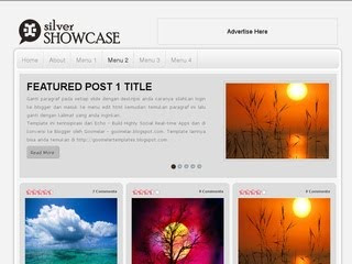 Silver Showcase Blogger Template