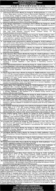 Civil Engineering Jobs in Punjab Primary & Secondary Healthcare Department