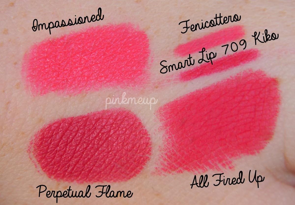 """Popolare Retromatte Lipstick """"All Fired Up"""" Mac: swatches e prime  TD04"""