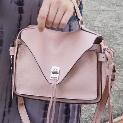 Rebecca Minkoff small Darren messenger bag in peony blush pink | away from the blue