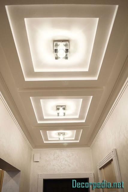 gypsum ceiling designs for hallway, false ceiling pop design 2019