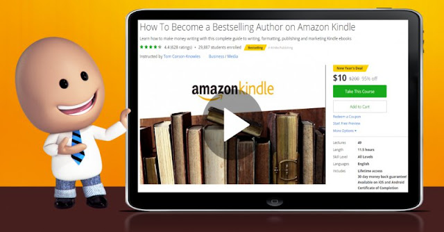 [95% Off] How To Become a Bestselling Author on Amazon Kindle| Worth 200$