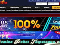 ZEUSBOLA ~ BONUS DEPOSIT 100% HANYA 10x ROLLOVER