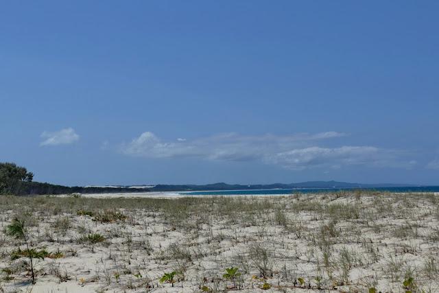 Strand Steppe Norden Osten Insel Moreton Island Küste