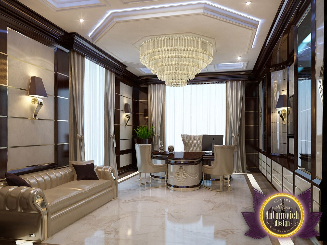 Luxury antonovich design uae office design ideas by for Interior designs videos