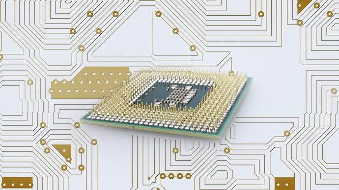 Wallpaper: Computer Processor and Board