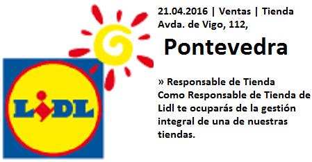 Lanzadera de Empleo Virtual Pontevedra,  Oferta Lidl
