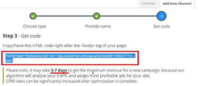 Cara Daftar dan Pasang Iklan Propeller Ads Lengkap