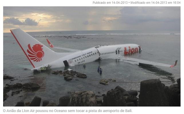 fa1deec5c Boeing admite que sensor pode ser responsável por acidente na Indonésia