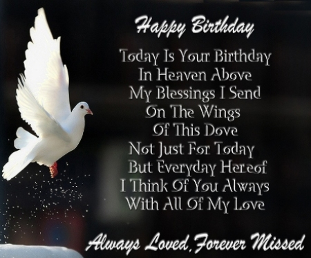 Happy Birthday Dad In Heaven Quotes Poems Pictures From Daughter