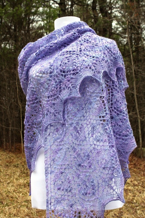 All Knitted Lace: April Estonian Lace Shawl - Water Lily