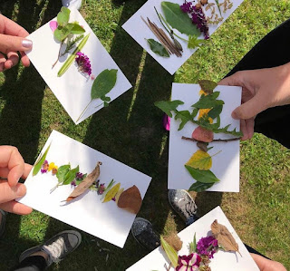 How to make a nature postcard with children