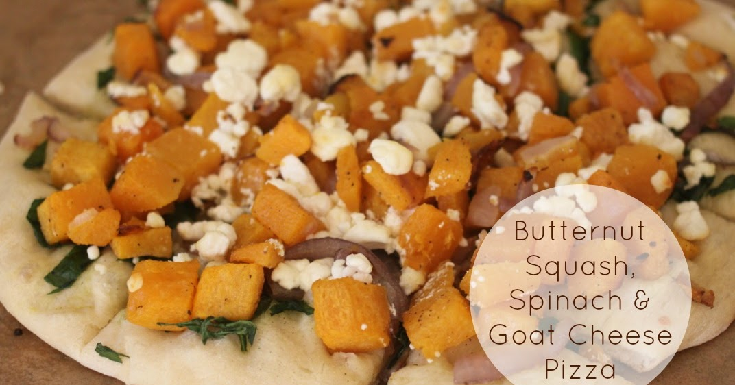 The Larson Lingo: Butternut Squash, Spinach & Goat Cheese Pizza
