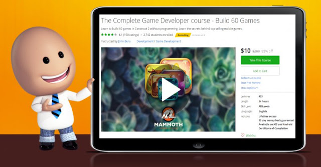 [95% Off] The Complete Game Developer course - Build 60 Games  Worth 200$