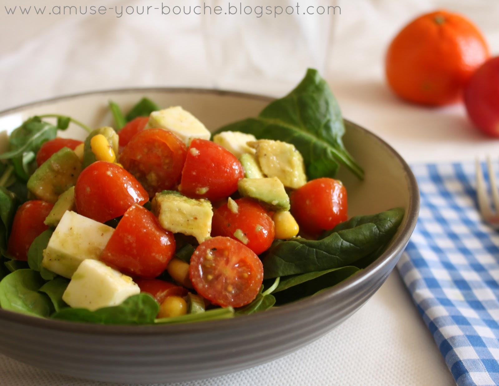 Marinated tomato, avocado and mozzarella salad – Easy Cheesy ...