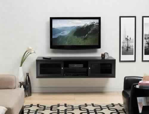 meuble tv suspendu bois. Black Bedroom Furniture Sets. Home Design Ideas