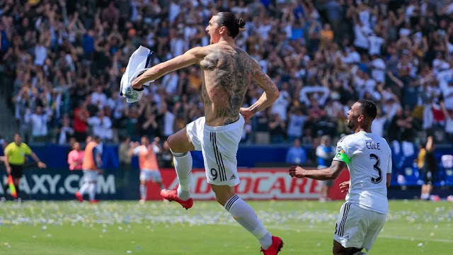 Ibrahimovic nets stunning double on LA Galaxy debut to win Derby [SPORT]