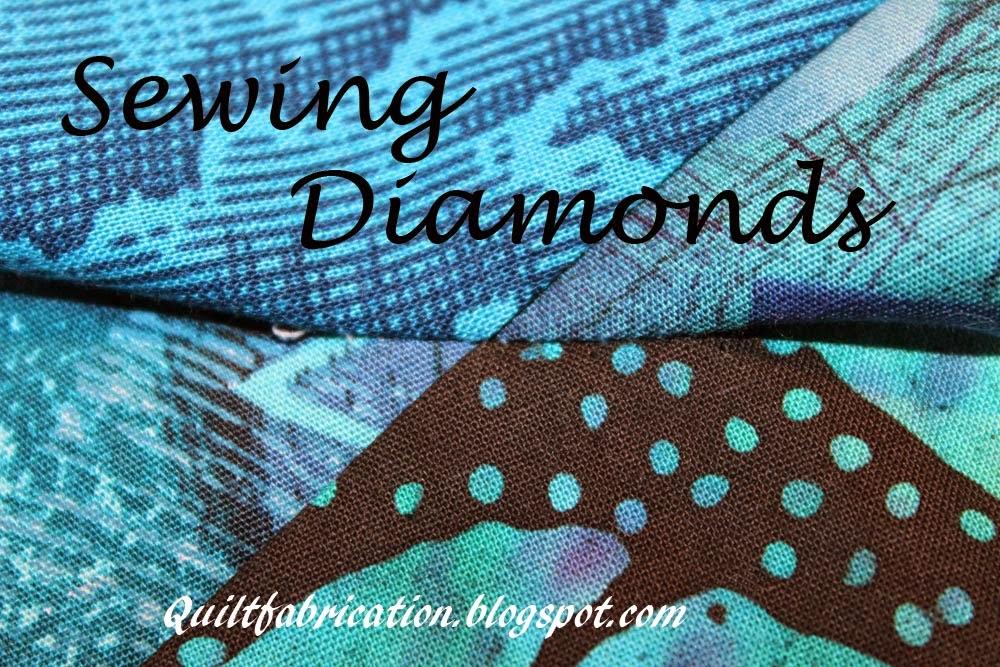 sewing diamonds small stitches
