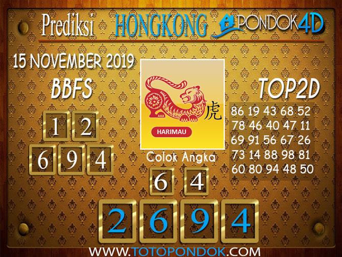 Prediksi Togel HONGKONG PONDOK4D 15 NOVEMBER 2019