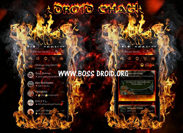 BBM Mod Droidchat Legend Of Fire
