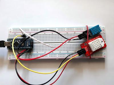 Senzorii conectați la placa de dezvoltare
