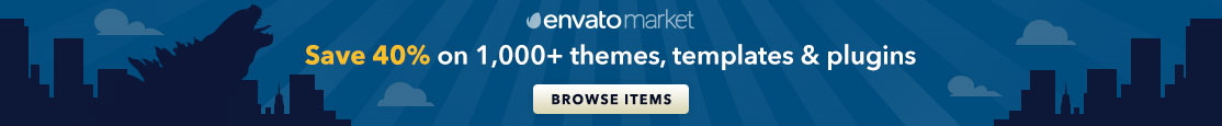 40% discount on 1000+ items on EnvatoMarket