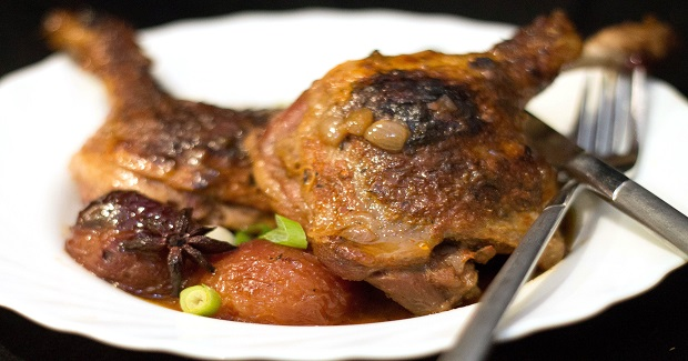 Slow Cooked Chinese Duck With Plums Recipe