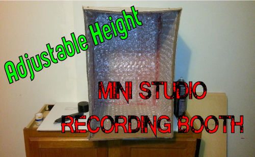 DIY Mini Studio Recording Booth