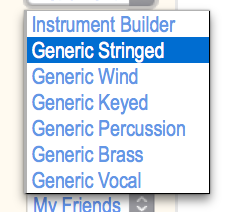 Base Instrument Builder (Configuration) Menu. #VisualFutureOfMusic #WorldMusicInstrumentsAndTheory