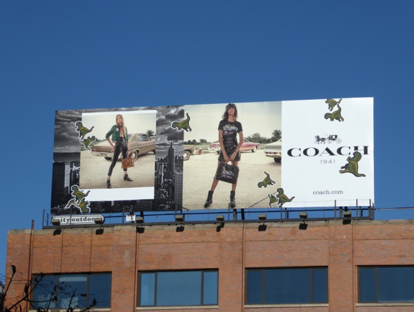 Coach FW16 fashion billboard NYC
