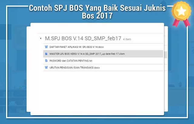 Contoh SPJ BOS Yang Baik Sesuai Juknis Bos 2017