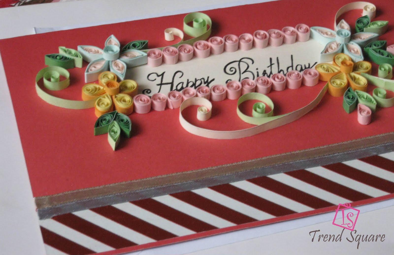 trend square beautiful birthday card