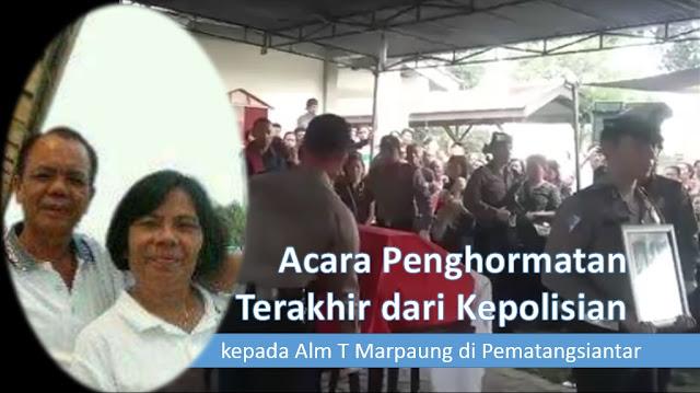 Polresta Pematangsiantar Lakukan Acara Pemberangkatan ke tempat Terakhir Alm Bripda (Purn) T Marpaung