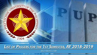 PUPCET Results List of Passers: Qualified Applicants and Waiting List for AY 2018-2019 (PUP College ...