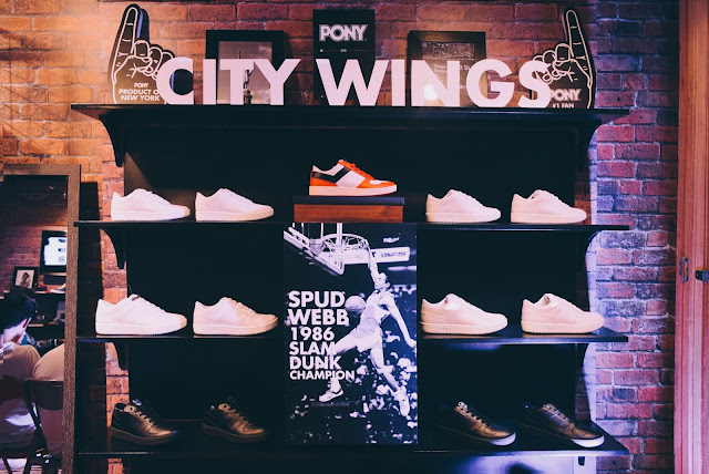 PONY city wings that was worn by NBA legend Spud Webb