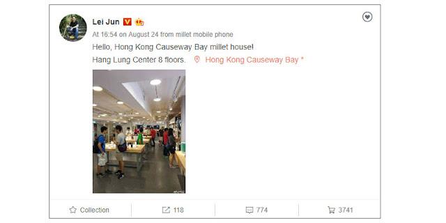 Xiaomi Mi Note 3 Lei Jun Mi Store
