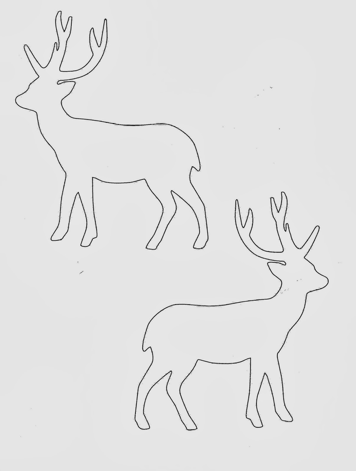 Template of reindeer head search results calendar 2015 for Reindeer cut out template
