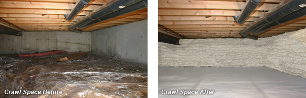 Crawl Spaces Before & After