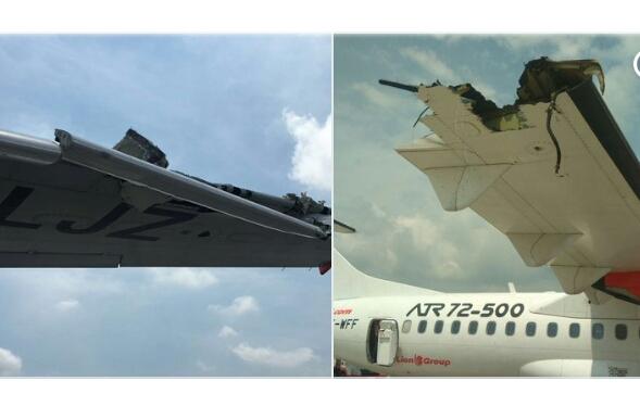 Lion dan Wings Air Tabrakan di Bandara Kualanamu