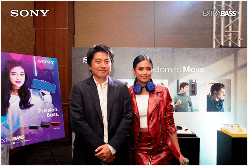 Sony believes that Gabbi fits the Extra Bass brand of passion for music