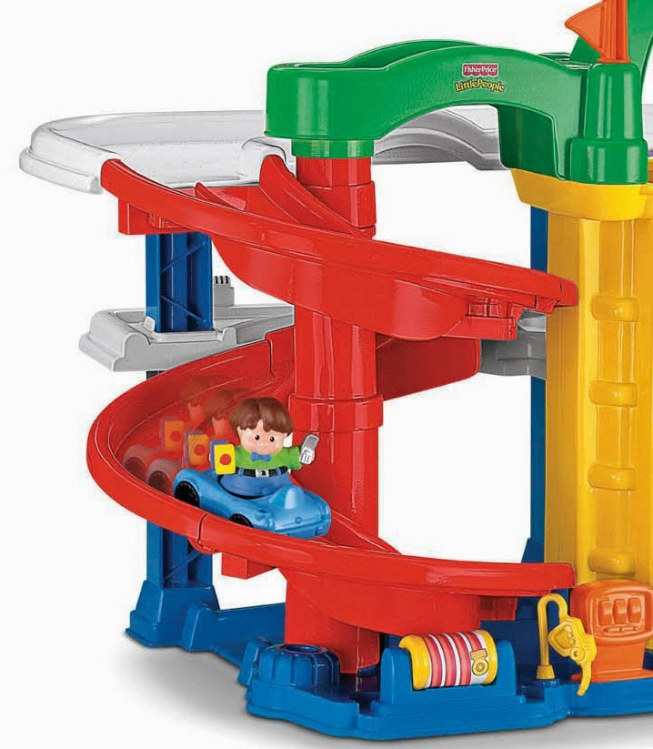 Kids Fun Fisher Price Little People Racin Ramps Garage