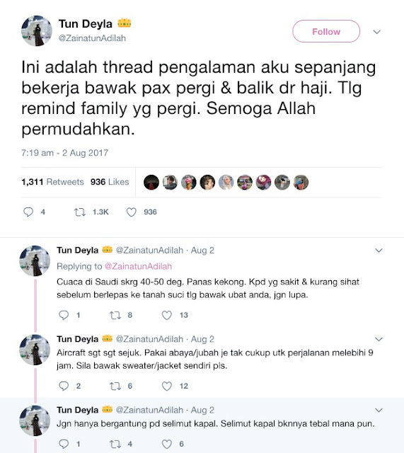 Pax Haji Malaysia Tolang Jangan Demand - Pramugari