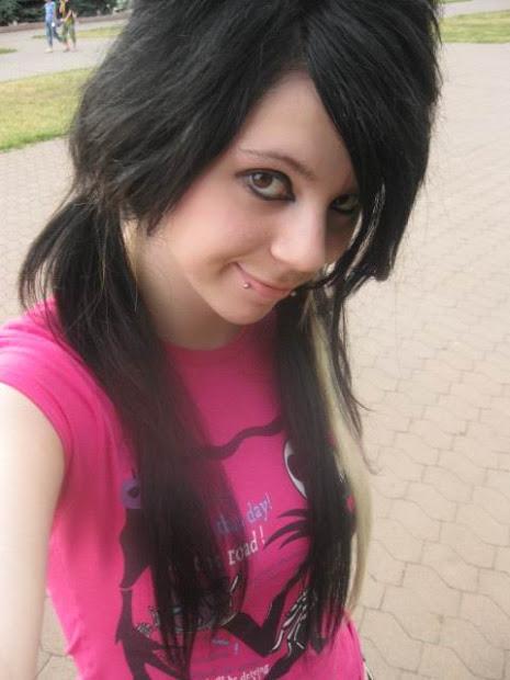 emo scene hairstyles teenage