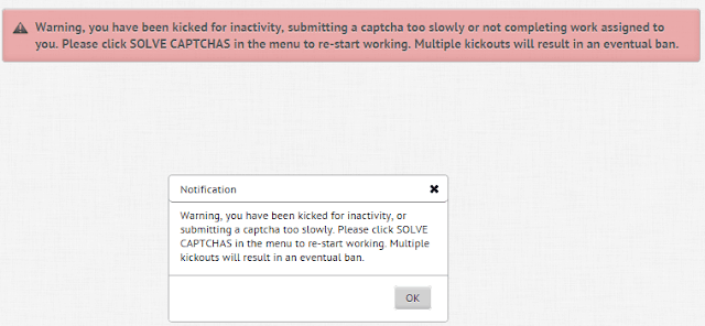 Kick out message when no captcha typed on time - Protypers