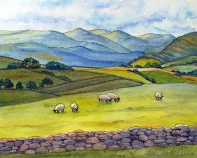 Cumbria original watercolor painting